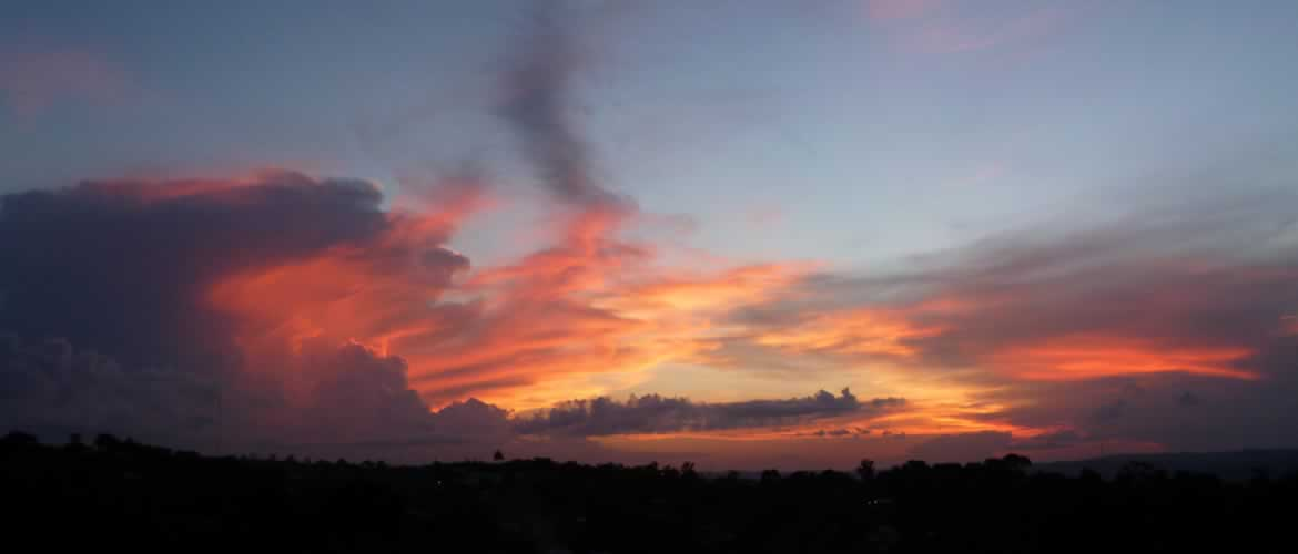 Sunset at Belize house rental